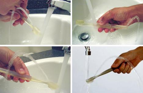 Brush and Rinse New Toothbrush Design