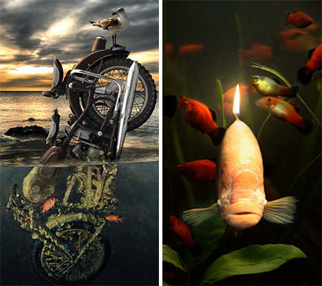 Jan Oliehoek motorbike and candlefish
