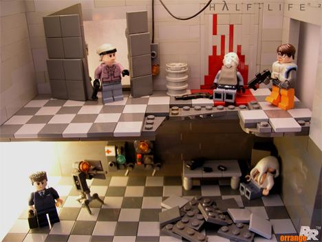 Lego Half-Life tableau