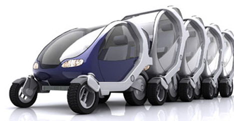 stackable robot cars the future of green mass transit. Black Bedroom Furniture Sets. Home Design Ideas
