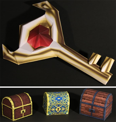 Nintendo Zelda Papercraft Boss Key and Trunks