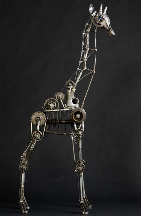 Steampunk giraffe 3