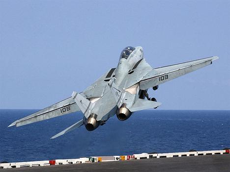 US Navy Jet Taking Off