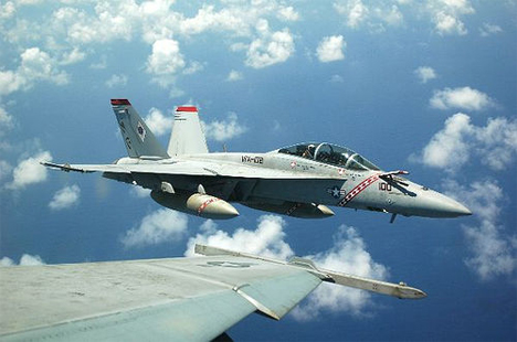 US Navy Jet in Flight