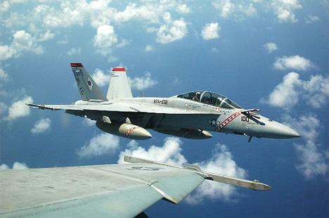 US Navy Jet in Flight