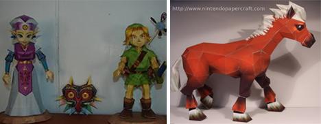Zelda papercraft figures