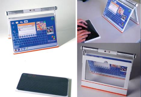 In-Car Portable Computer: Steering Wheel Laptop Idea