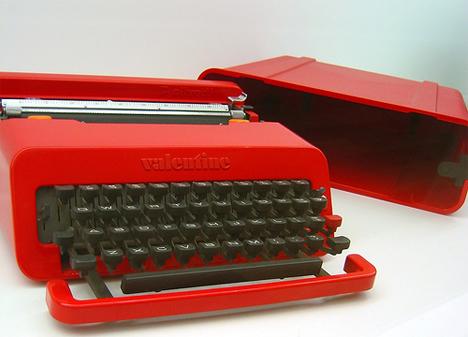 classic Valentine typewriter