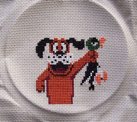 duck hunt cross stitch