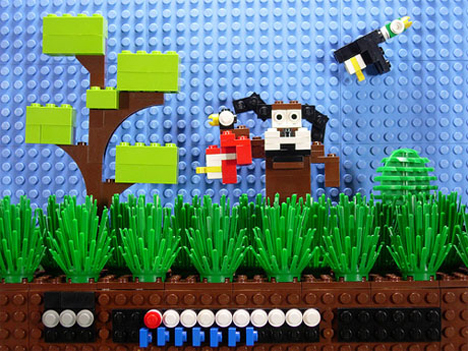 duck hunt lego sculpture