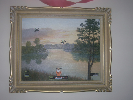 duck hunt painting
