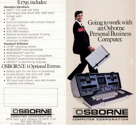 first portable laptop computer