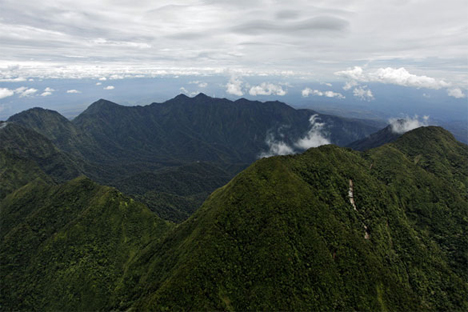 mount bosavi crater in papua new guinea