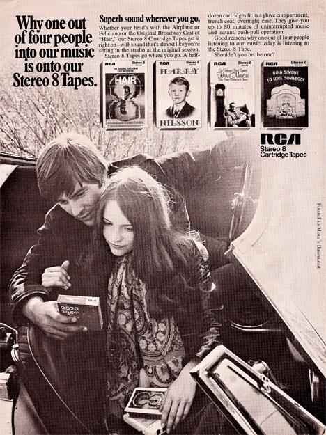 vintage 8-track advert