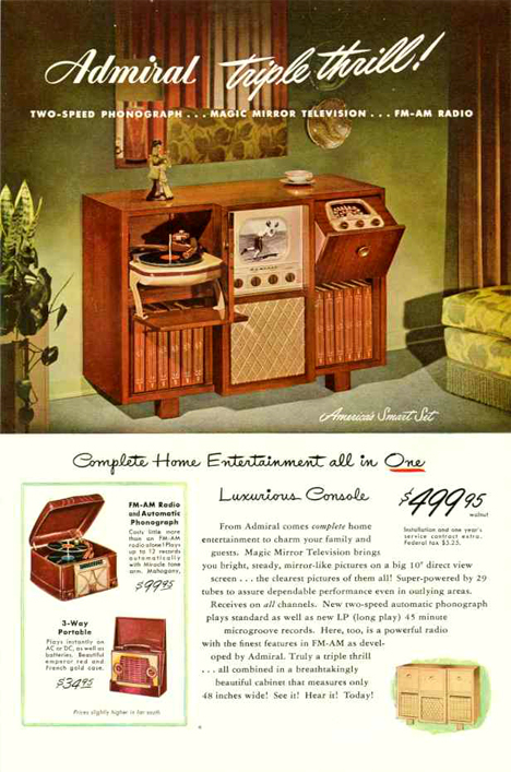vintage console radio advert
