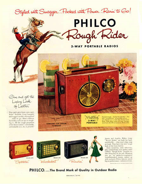 vintage portable radio ad