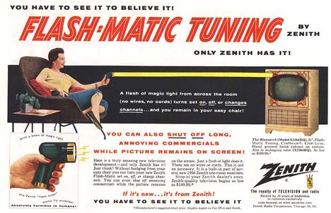 vintage zenith flashmatic ad