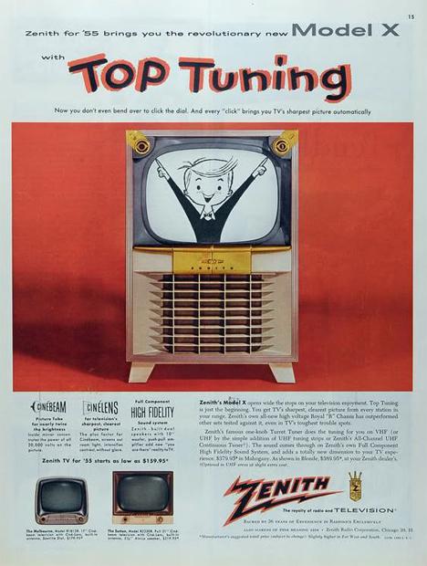 vintage zenith television ad