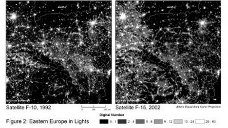Eastern European nighttime lights