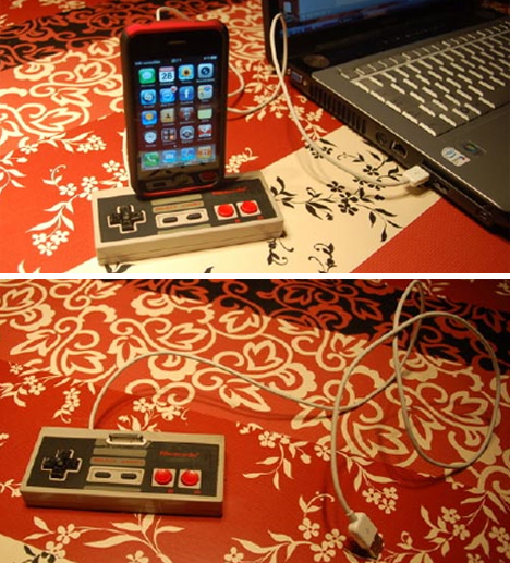 NES controller iphone dock
