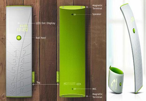 Solar powered wearable leaf phone