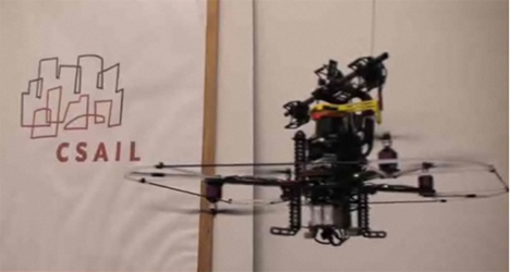 autonomous helicopter with laser vision