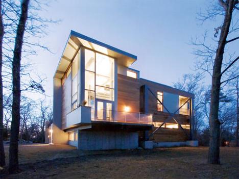 big dig house external illuminated