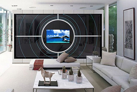 Borderless Mirror In Living Room