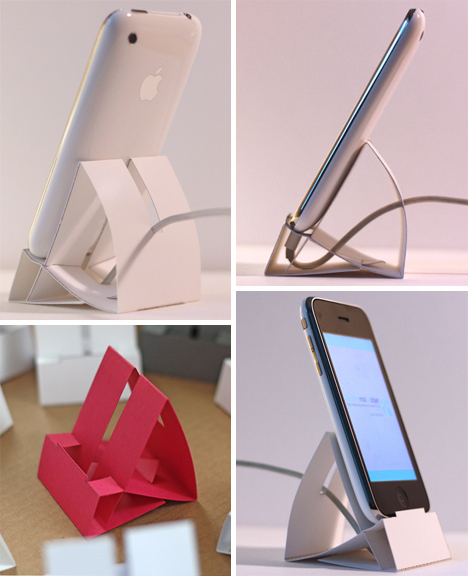 french paper iphone dock