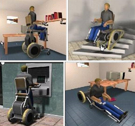 Reinventing the wheel chair wheelchair climbs stairs for Motorized chair for stairs cost