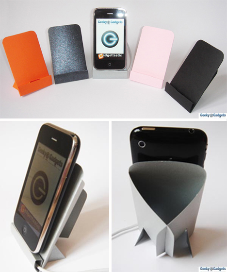 geeky gadgets cardboard iphone dock