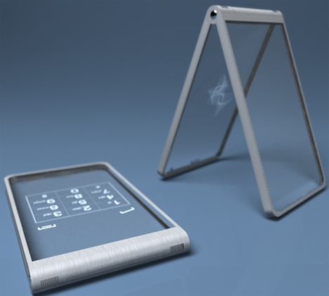 glassy glassy transparent phone concept