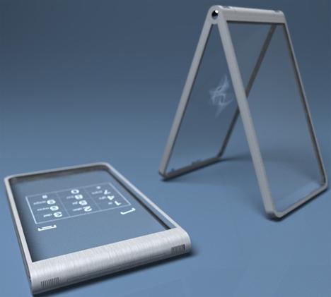 glassy glassy transparent phone concept