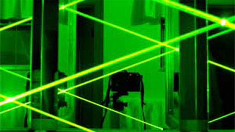 green reflected lasers