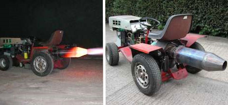 jet powered lawnmower