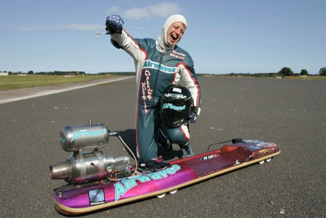 jet powered luge