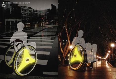 kinetic energy wheelchair in motion