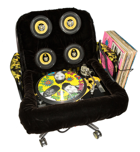 mikal hameed sound systems recycled chairs