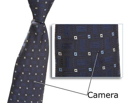 necktie spy camera hidden camera secret recording