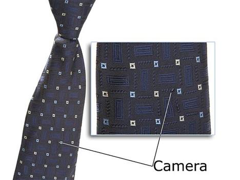 necktie spy camera hidden camera secret recording