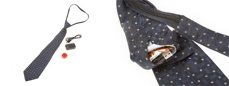 necktie spy camera pieces and usb port