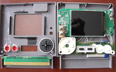 nes gameboy emulator cartridge case guts