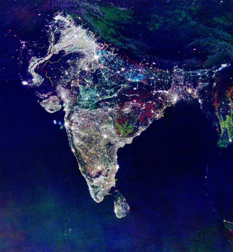 nighttime lights India