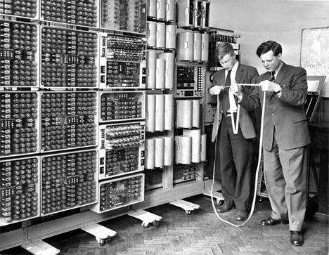 reading tape harwell computer