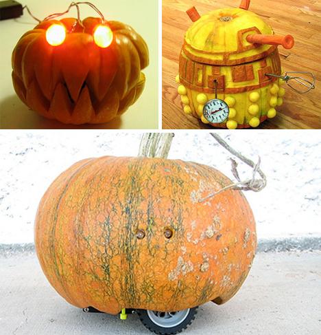 robot jack o lanterns