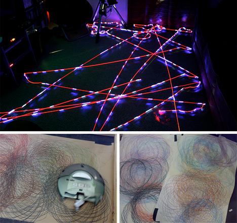 roomba art and roomba spirograph art