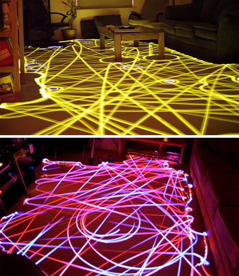 roomba full room LED art