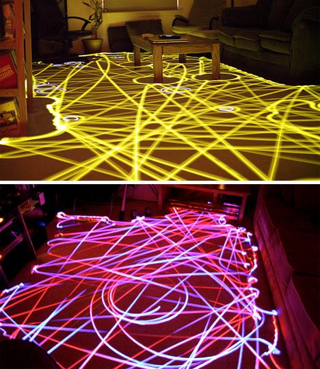 roomba full room LED art