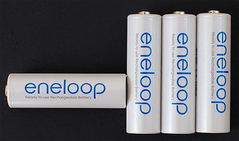 sanyo eneloop rechargeable battery 1000 charges