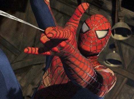 spider-man shooting web